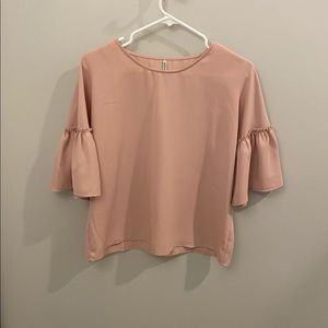 Stradivarius Light Pink Blouse with 3/4 Sleeves